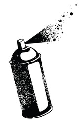 Spray can,  isolated background vector illustration.
