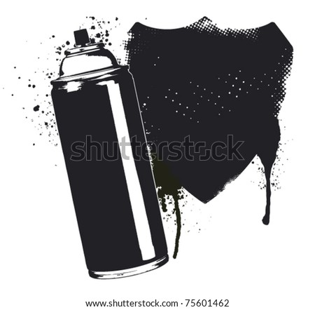 spray composition with inkblot