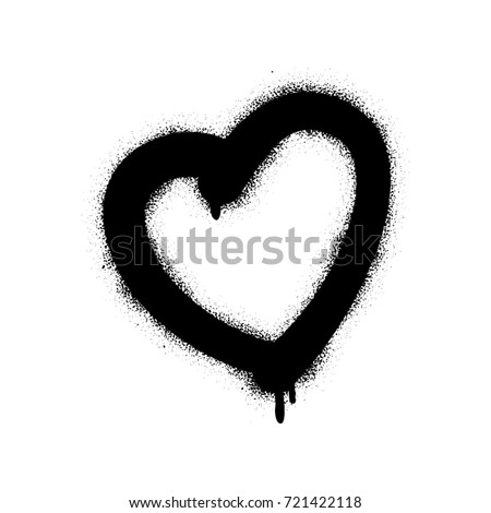 spray graffiti heart symbol