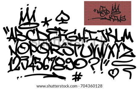 spray graffiti tagging font and