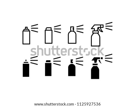 Spray Icon Design Vector Symbol Cleaning Water
