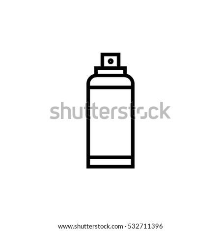Spray line icon. Deodorant