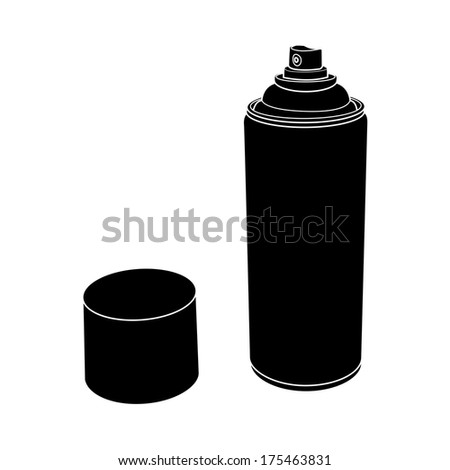 Spray Paint Silhouette Spray Paint Can Silhouette