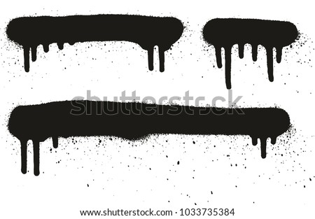 Spray Paint High Detail Abstract Vector Backgrounds, Lines & Drips Set 50