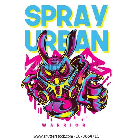 Spray Urban Illustration
