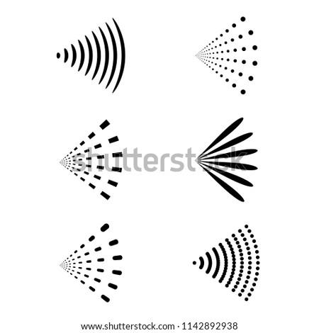 Spray vector icon of water or air sprayer nozzle for paint aerosol or deodorant spray