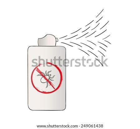 spray with no tick symbol, cartoon, isolated