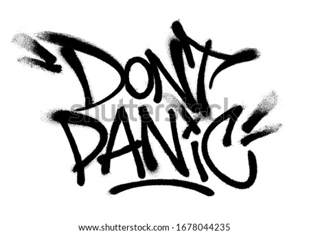 sprayed dont panic font with