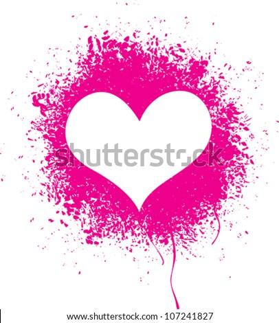 sprayed heart   vector