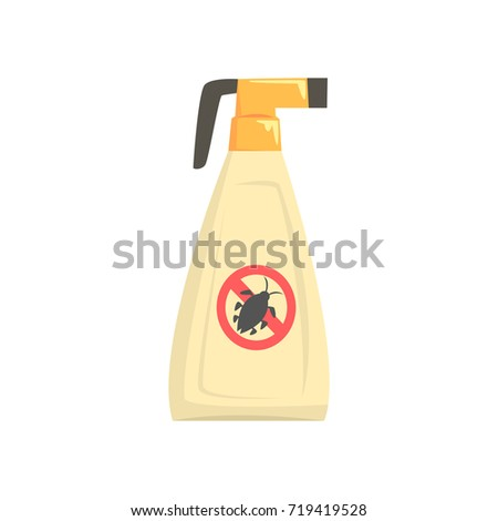 Sprayer bottle of insecticide, extermination of pest insects cartoon vector illustration Foto d'archivio ©