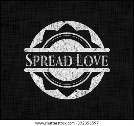 Spread Love chalk emblem