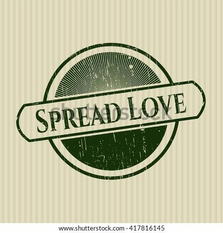 Spread Love grunge seal