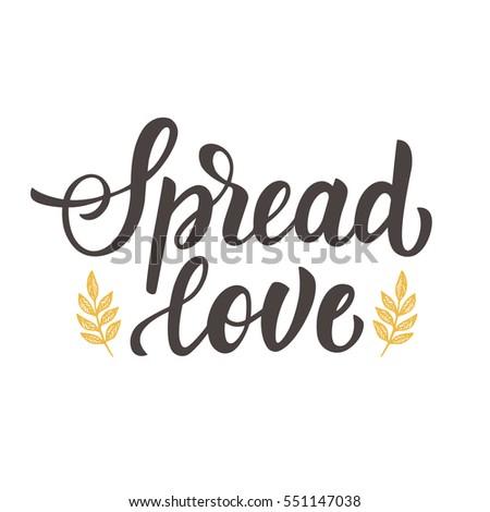 spread love hand drawn brush