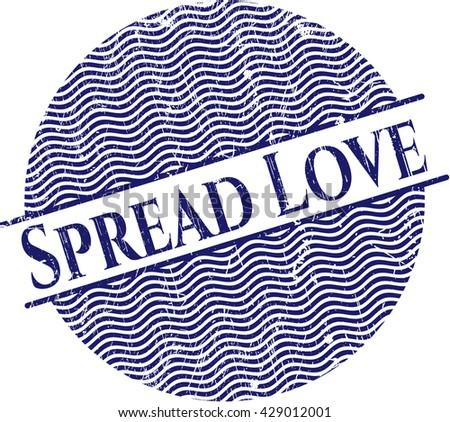 Spread Love rubber grunge texture stamp