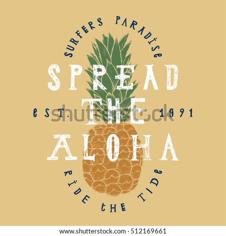 spread the aloha pineapple