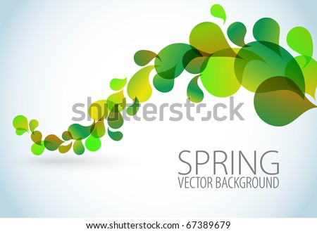 Spring Abstract floral background with place for your text