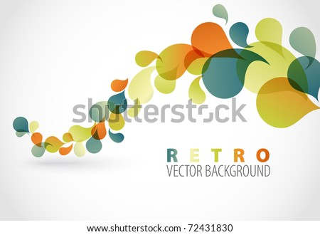 Spring Abstract floral background with place for your text (retro colors)