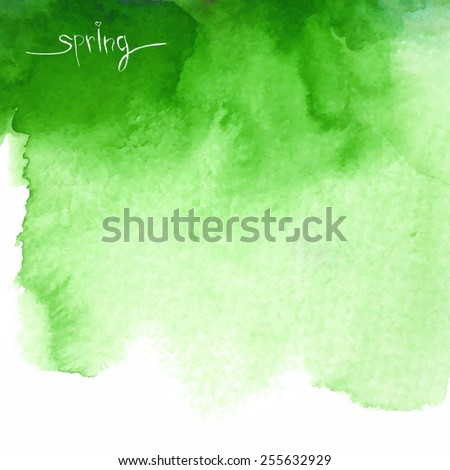 spring  abstract green