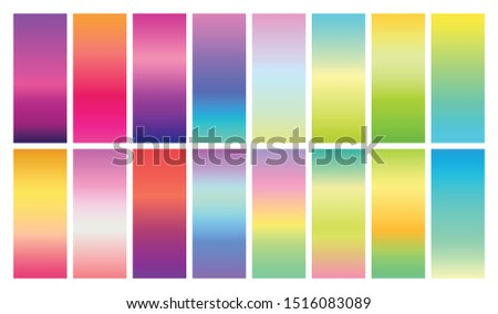 Spring and summer background vector gradient swatches. Swatches file for illustrator included.