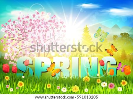 Spring. Background.