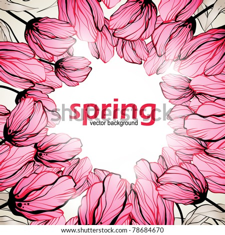 spring background  eps10