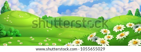 spring background green meadow