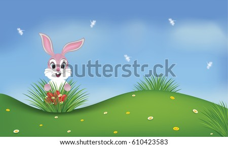 spring background with a pink