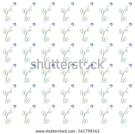 spring background with blue