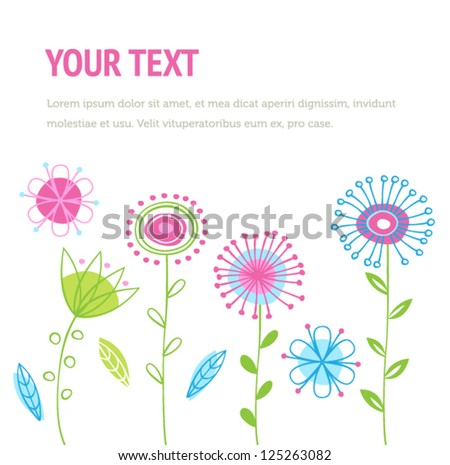 Spring Background With Flowers For Web Or Print