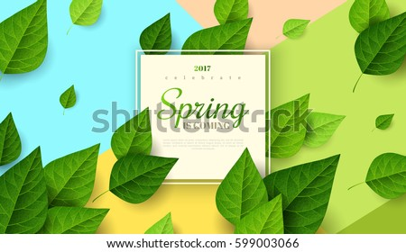 green banner with leaves free vector download free