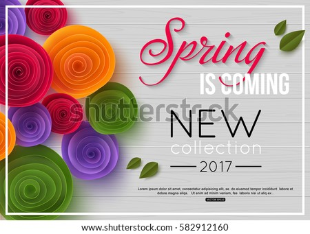 spring background with paper