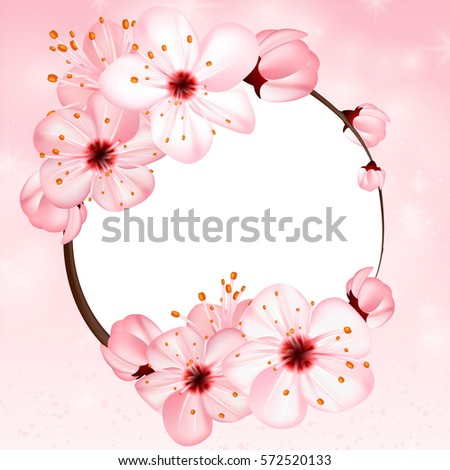 spring background with pink