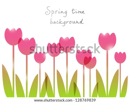 spring background with place