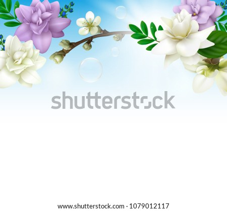 spring background with