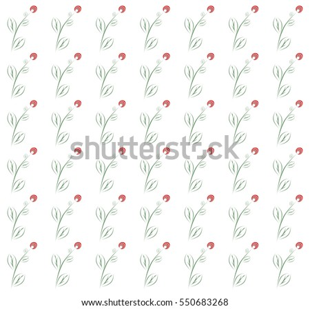 spring background with red