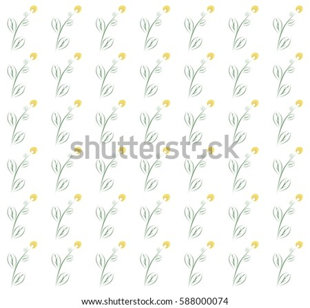 spring background with yellow