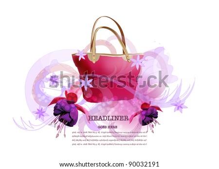 Spring bag background