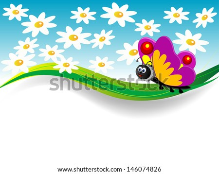 spring banner flowers
