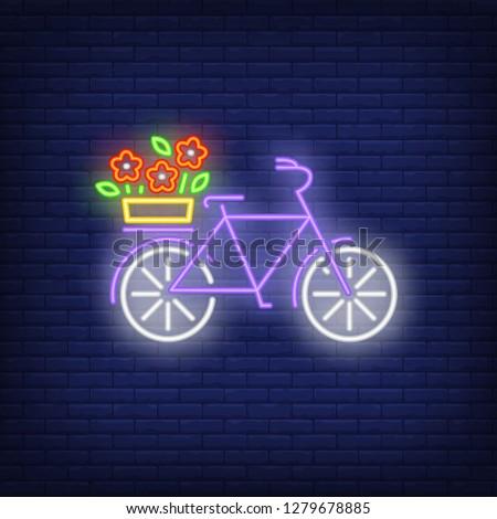 spring bike neon sign bicycle