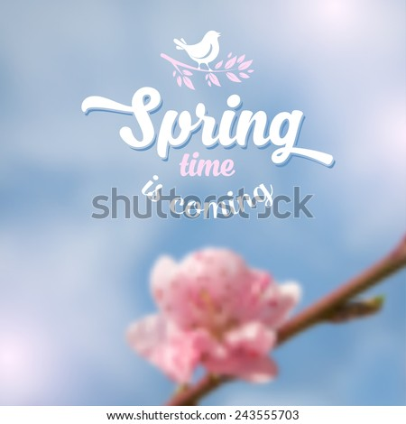 spring blurred background with
