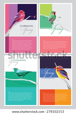spring brochure covers