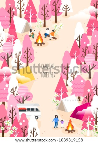 Spring camping and traveling