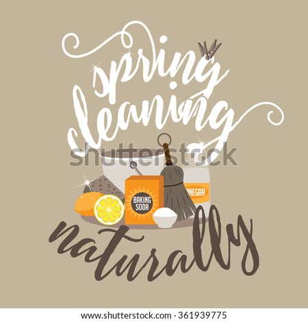 spring cleaning naturally with