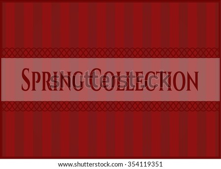 Spring Collection banner or poster