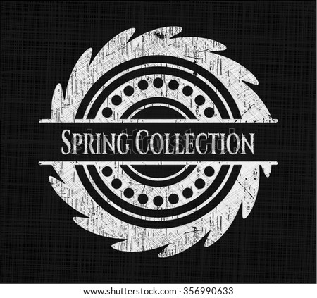 Spring Collection chalkboard emblem on black board