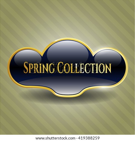 Spring Collection gold emblem or badge