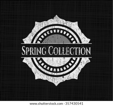 Spring Collection on chalkboard
