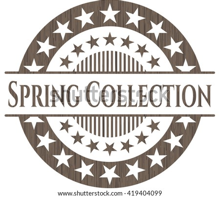 Spring Collection retro wooden emblem