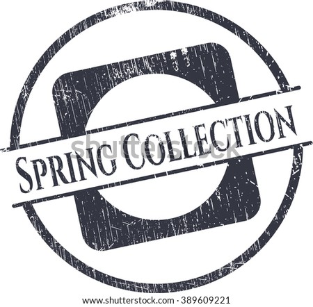 Spring Collection rubber grunge stamp