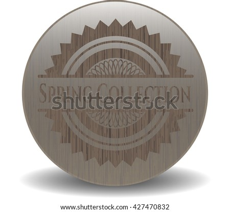 Spring Collection wood icon or emblem